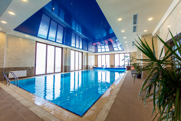 Indoor swimming pool and sauna